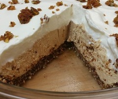 Warrior Buckeye Peanut Butter Cream Pie