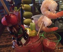 A Bloddy Shrimp Cocktail