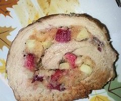 cranberry apple stuffed pork loin