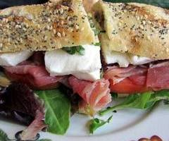 Prosciutto with Fresh Mozzarella, EVO