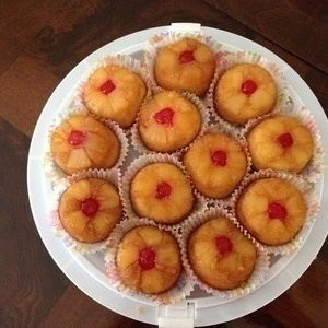 Miniature Pineapple Upside down Cupcakes