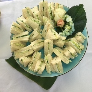Cucumber and dill cream cheese sandwiches